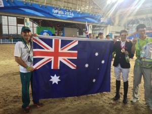 Jake with Aussie flag