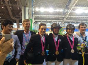 Jake Hunter with his fellow individual medal winners at the Youth Olympic Games, Nanjing 2014